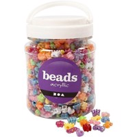 Beads - Box of 700 ml. - Acryllic Novelty Shaped - Approx. 1100 pc.