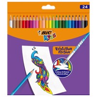 BIC Kids Evolution Erasable Crayons, 24pcs.