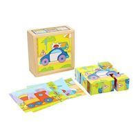 Block puzzle Vehicles in Box, 9 psc