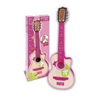 Bontempi pink wooden guitar with 6 strings 70cm