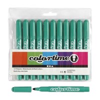 Bright green Jumbo markers, 12pcs