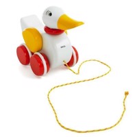 BRIO  Pullalong Duck, White