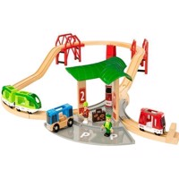BRIO - Railway with Platform and Parking (33627)