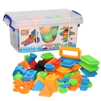 Bristle Blocks in Storage Box, 80 pcs.