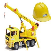 Bruder - MAN TGA 1973 Crane Truck and Helmet