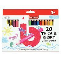 Bruynzeel Kids Short Thick Colored Pencils, 20pcs