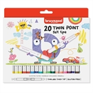Bruynzeel Kids Twin Point Markers, 20 pieces