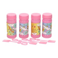 Bubble blowing unicorn 4 x 50 ml