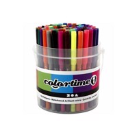 Bucket with 100 pens, 18 colors