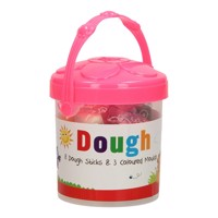 Bucket with Colored Clay, 8st  Pink N