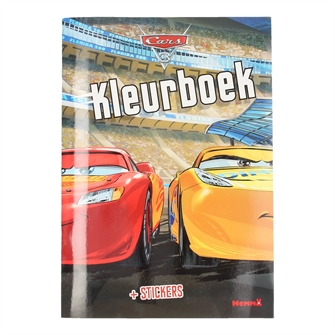 Cars 3 Coloring Book with Stickers