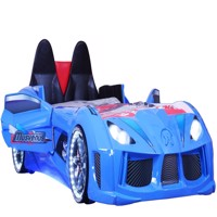 Charged speed car bed w led light and sound Blue