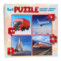 Child puzzle 4in1 - Vehicles