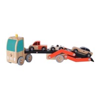 Classic World Car Transporter with Cars, 4 pcs