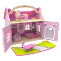 Classic World Pink Dollhouse 14 psc