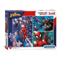 Clementoni Brilliant Puzzle Spiderman, 3x48st