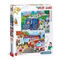 Clementoni Puzzle Fire Department and Police, 2x60st