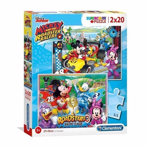 Clementoni Puzzle Mickey Roadster Racers, 2x20st