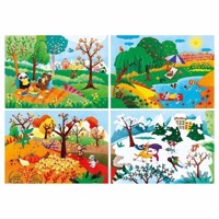 Clementoni Puzzle The Seasons, 4in1