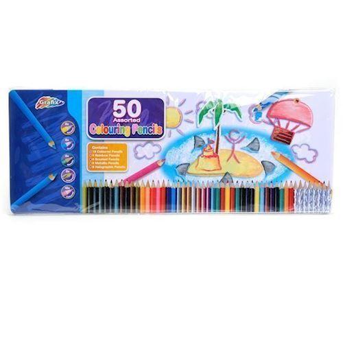 Color pencils Regenboogset, 50pcs.