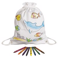Color your own Backpack - Underwater world