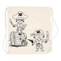 Color your own cotton gymbag pirates