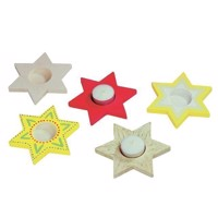 Color your own tea light holder Star