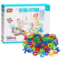Construction and threading set letters 120 pcs