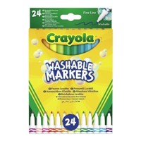 Crayola Felttip pens with thin tip, 24 pcs