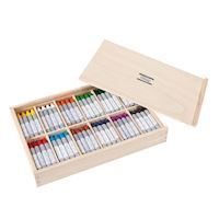 Creall Wax crayons in storage box, 144 pcs