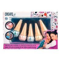 Create It Shimmering Nail Polish Ice Cream Cone, 5pcs