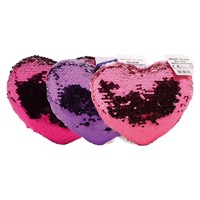 Cushion heart shape with sequins