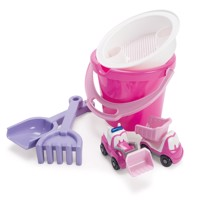 Dantoy  My Little Princess Bucket Set with 2 Vehicles in Net