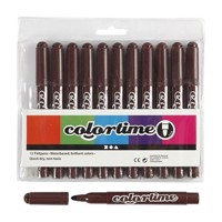 Dark brown Jumbo markers, 12pcs