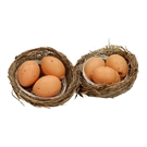 Decoration Nest with Eggs, 2pcs