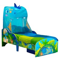 Dinosaur wooden junior bed med w storage 140Cm