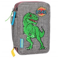 Dinoworld sequin pattern triple pencilcase