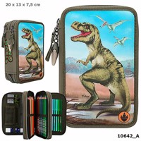 Dino world trippel pencilcase w led