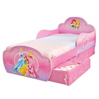 Disney princess bed w storage 140Cm