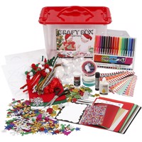 Diy Kit Craft Materials With Storagebox Christmas