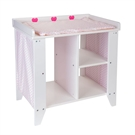 Dolls Commode Wood White  Pink