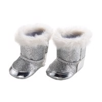 Doll shoes Silver, 30-34 cm