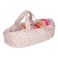 Dolls Travel Cot Small  Flowers