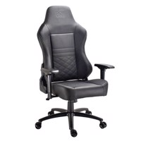 DON ONE  Luciano Gaming Chair BlackWhite stiches