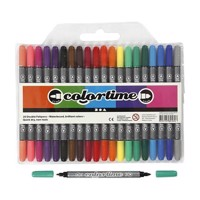 Doublesided pens  Basic colors, 20st