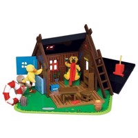 DR - Bamses hus - Wooden - including figures