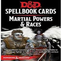 Dungeons & Dragons - 5th Edition - Spell Deck Martial Power & Races