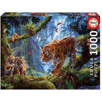 Educa - Puzzle 1000 - Tigers in the Tree