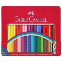Faber-Castell - Colour Pencils - Metal Tin with Accessories - 48 pcs.