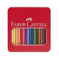 Faber-Castell - Jumbo Grip Colour Pencils Tin - 16 pc